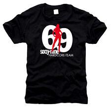 69 equipo hardcore sixtynine-t-shirt, talla s hasta XXL
