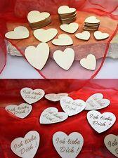 3,4,5 cm ø Streudeko Holz Herz Tischdeko Hochzeit Verlobung Taufe Fest Liebe