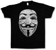GUY FAWKES MASK VINTAGE T-SHIRT - V For Wie Anonymous Vendetta Maske UK T-Shirt