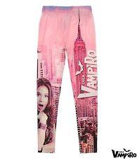 Neu Kinder Mädchen Sporthose Legginghose Chica Vampiro pink Gr. 116 128 140 152