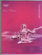 Orig.Komplette PRG     Olympische Spiele SYDNEY 2000  -  KANU + KAJAK  !!  TOP