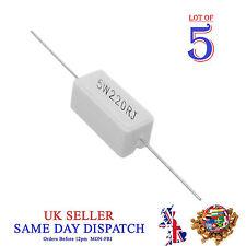 Wirewound Cerámica Cemento resistor horizontal 5x 5W