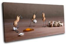 Peanut Men Eggs Food Kitchen SINGLE TOILE murale ART Photo Print