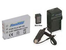 1800mAh Battery + Charger Fuji Real 3D W1 3DW1 X-S1 XS1