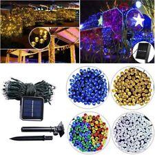 Exterior Energía Solar Guirnalda de Luces Cuerda Lámpara Fiesta de Navidad