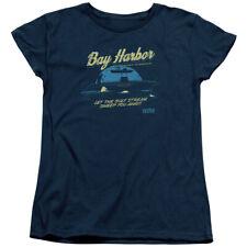 Dexter Moonlight Fishing Womens Short Sleeve Shirt NAVY