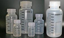 Weithalsflasche aus Polypropylen, graduiert, runde Form, 6 Größen in der Auswahl