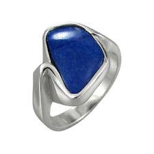 Schmuck-Michel Ring Silber 925 Lapis lazuli 15x9 mm - Gr. 50 - 65 wählbar (2360)