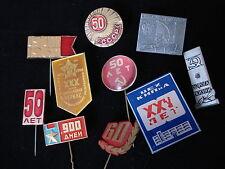 Soviet Pin Badge Lot of 10 WW2 1917 Civil War Jubilee 50 Year Communist 1922