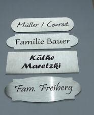 Edelstahl Türschild XL, Namensschild, Klingelschild inkl. Laserbeschriftung