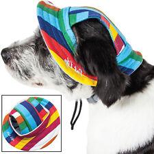 Pet Life 'Colorfur' UV Protectant Adjustable Fashion Brimmed Pet Dog Hat Cap