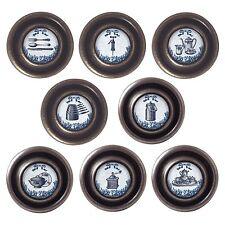 Brass or Pewter Knobs Vintage Kitchen 32mm Cupboard Drawer Door Handles