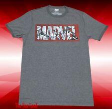 NEW Marvel Comics Ringer Logo Classic Vintage Mens T-Shirt