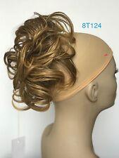 "Synthetic Elastic Hair piece Updo Scrunchies Bun Extensions Wavy 7"""