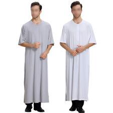 Musulman Round Neck Hommes Thobe Islamic Robe Juif hindou Dishdasha Kandoura