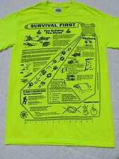 2 Sided SURVIVAL Tee Shirt Pack Full Of Life Saving Information.  grab & Go bag