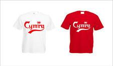 T-shirt Galles Cymru Gallese di CALCIO EURO DA UOMO DONNA
