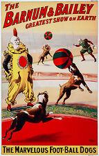 Barnum & Bailey Circus 3, Old Vintage Ad, Magic, Antique, HD Art Print or Canvas