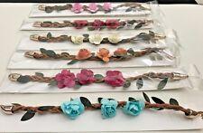 NEW Beautiful Flower Bracelet- Rose Bracelets- 6 Color Choice. USA SELLER