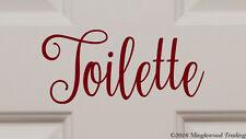 """Toilette 7.5"""" x 3.5"""" Vinyl Decal Sticker - Bathroom Door Sign Restroom Toilet"""