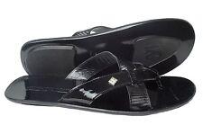 Giovanni Conti 012 Italian mens black patent leather thong sandals