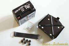 Vespa set batería 12v/9ah-px Lusso-t5 soporte incl. búfer de goma SUJECIÓN Band