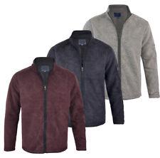 Men's Fishing Fleece Heavy Weight  Macaroni Sweatshirt Full Zip Jacket Top M-XXL