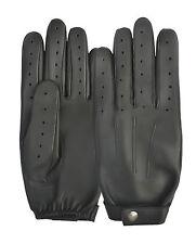 Men's Leather Police Style Driving Gloves Retro Unique Soft Comfortable Vintage
