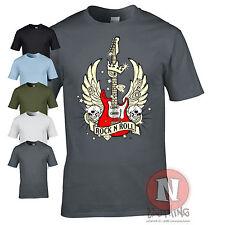 Guitar Wings t-shirt rock n roll band music hero tour festival classic
