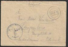 Ostland 1943 Fieldpostcover Tilsit