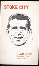 Stoke City v Blackpool Official Programme Jan 8 1966