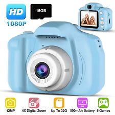 Kids Digital Camera Camcorder 12MP 1080P FHD Video Camera 4X Zoom Christmas Gift
