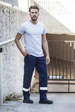 Pantalone Pantaloni da Lavoro Uomo Alta visibilità Industria Multitasche