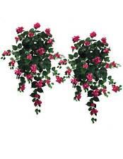 """2 Bougainvillea 36"""" Hanging Silk Flowers Plants FU"""