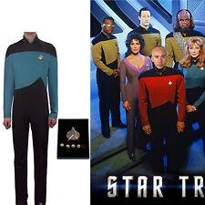 Cosplay Star Trek TNG Jumpsuit Uniform The Next Generation Blue Costume Uniform