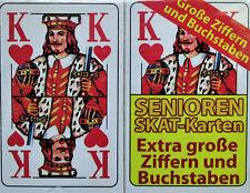 Senioren Skat Karten Spielkarten Französisches  Skatspiel  2x 32  Blatt