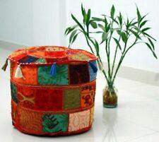 Indian Bedroom Mandala Ottoman Pouffe 100% Cotton Foot Stool Cover