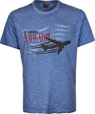Camiseta de manga corta de hombre Navigator de avión Cuello Redondo Pequeño a 6XL
