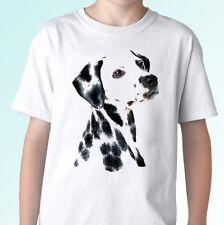 Dalmatian white t shirt dog top tee design - mens womens kids baby sizes