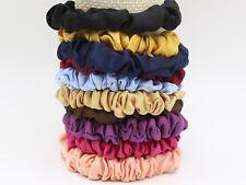 10 Satin Elastic Scrunchie Hair Band Rope Elastic-Band Loop Ponytail Color Choic