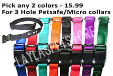 "2-1"" Nylon Dog Fence Collar Receiver  Strap 3 Hole Petsafe PIF 275-19 RFA 48"