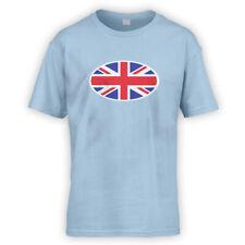 Union Jack Flag Kids T-Shirt -x10 Colours- Car Tennis Cycling Austin Morris