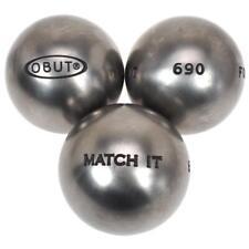 Boules de pétanque Obut Match it inox 72mm  mÉta Gris 57227 - Neuf