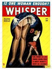 Whisper,   Vintage Mens Magazine cover poster reproduction