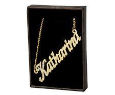 Chapado En Oro Con Collar de nombre' K' Regalos Personalizados-Katharina | Kiera | Kirsten