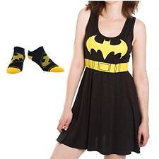 Batman Logo Womens' Juniors Dress and No-Show Socks - 2 Piece Gift Set