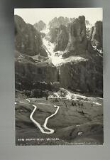 vecchia cartolina gruppo sella val culea