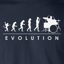 EVOLUTION Drummer funny T-Shirt music band humor rock n roll present