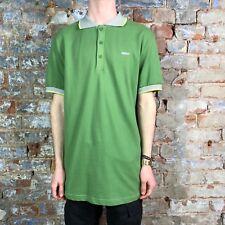 WESC Mens Bernard Short Sleeve Polo Shirt Green size L