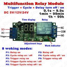 DC 5V 12V 24V Digital LED Cycle Timer Delay Time Relay Switch ON/OFF Module -L49